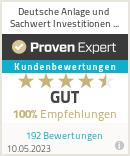 Erfahrungen & Bewertungen zu Deutsche Anlage und Sachwert Investitionen GmbH
