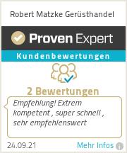 Erfahrungen & Bewertungen zu Robert Matzke Gerüsthandel