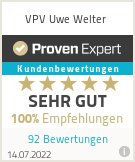 Erfahrungen & Bewertungen zu VPV Uwe Welter