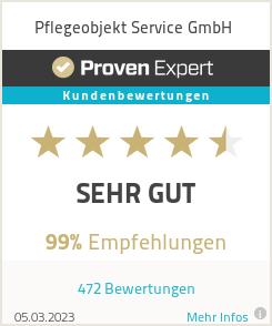 Erfahrungen & Bewertungen zu Pflegeobjekt Service GmbH