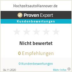 Erfahrungen & Bewertungen zu HochzeitsautoHannover.de
