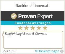 Erfahrungen & Bewertungen zu Bankkonditionen.at
