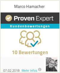 Erfahrungen & Bewertungen zu Marco Hamacher