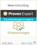 Erfahrungen & Bewertungen zu News Consulting