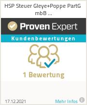 Erfahrungen & Bewertungen zu HSP Steuer Gleye+Poppe PartG mbB Steuerberatungsgesellschaft