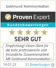 Erfahrungen & Bewertungen zu Goldmund Kommunikation