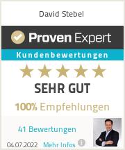 Erfahrungen & Bewertungen zu David Stebel