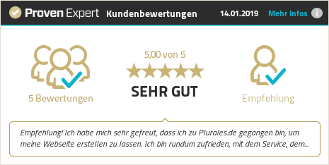Erfahrungen & Bewertungen zu Plurales.de anzeigen