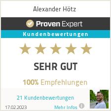 Erfahrungen & Bewertungen zu Alexander Hötz