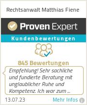 Erfahrungen & Bewertungen zu Rechtsanwalt Matthias Fiene