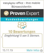 Erfahrungen & Bewertungen zu easy4you-office - Ihre mobile Büroassistentin