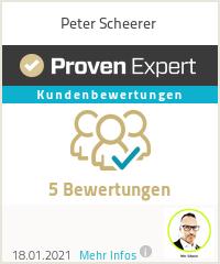 Erfahrungen & Bewertungen zu Peter Scheerer