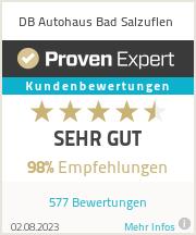 Erfahrungen & Bewertungen zu DB Autohaus Bad Salzuflen