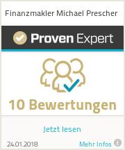 Erfahrungen & Bewertungen zu Finanzmakler Michael Prescher