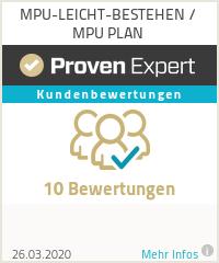 Erfahrungen & Bewertungen zu MPU-LEICHT-BESTEHEN / MPU PLAN