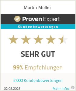 Erfahrungen & Bewertungen zu Martin Müller
