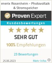 Erfahrungen & Bewertungen zu enerix Rosenheim - Photovoltaik & Stromspeicher