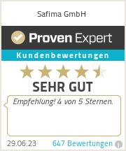 Erfahrungen & Bewertungen zu Safima GmbH