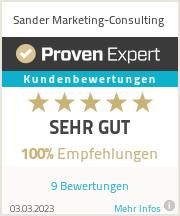 Erfahrungen & Bewertungen zu Sander Marketing-Consulting
