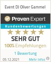 Erfahrungen & Bewertungen zu Event DJ Oliver Gammel