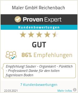 Erfahrungen & Bewertungen zu Maler GmbH Reichenbach