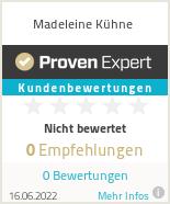 Erfahrungen & Bewertungen zu Madeleine Kühne