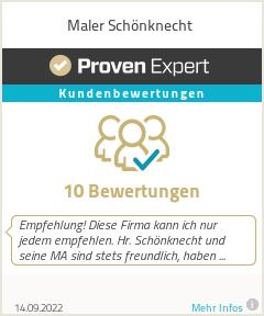 Erfahrungen & Bewertungen zu Maler Schönknecht
