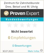 Erfahrungen & Bewertungen zu Zentrum für Zahnheilkunde Dres. Beisel und M. Uhrig