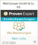 Erfahrungen & Bewertungen zu MietCamper GmbH & Co. KG
